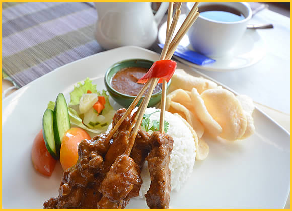 sate of Indonesian food